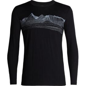 Icebreaker M's Tech Lite Pyrenees LS Crewe Shirt Black